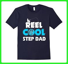 Mens Fishing Dad t-shirt, Reel Cool Step Dad - Fathers Day Gifts 3XL Navy - Relatives and family shirts (*Amazon Partner-Link)