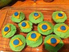 World Cup Brazil cupcakes!