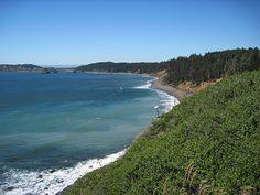 Oregon coast line