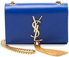 Saint Laurent Monogramme Small Crossbody Bag, Cobalt Blue
