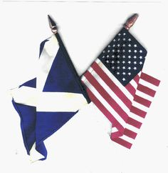 Flag of Scotland with the US.