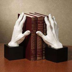 """Держатели для книг-""""Bookends"""" - Care - Skin care , beauty ideas and skin care tips Library Furniture, Hand Sculpture, Metal Clock, Book Holders, Deco Table, Room Inspiration, Book Worms, Book Art, Bookends"""