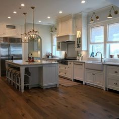 I am so happy for sharing this #kitchen I designed for a dear client/friend of mine in #California. I hope you guys stop by to see all of the details on the #blog today. I am sharing all sources! Feel free to share this with your followers! :) #Cabinet #paintcolor is #BenjaminMoore Simply White. #bloggers #Homes #housetours #newpost #kitchens #kitchenreno #kitchenremodel #beforeandafter #pictures #photos #mydomained #insta
