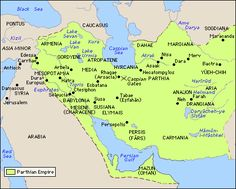 """The Parthians. The reason why Herod freaked out like he did when the Magi came looking for the """"King of the Jews."""" Parthian Empire, 247 BCE – 224 AD, also known as the Arsacid Empire, or Ashkanian. Iran. They were the Roman Empire's chief threat at the time."""