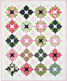 FULL BLOOM by Allison Jensen: Allison's delightful pattern looks just like a flower garden grown from the Olive's Flower Market collection from Moda Fabrics. Pattern in the March/April 2017 issue of McCall's Quilting magazine. Quilting Tutorials, Quilting Designs, Mccall's Quilting, Quilting Ideas, Lap Quilts, Quilt Blocks, Lap Quilt Patterns, Fat Quarter Quilt, Keepsake Quilting