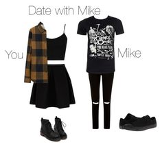 """""""Date with Mike"""" by ka-vip on Polyvore featuring moda, JDY, Converse, Topshop y Uniqlo"""