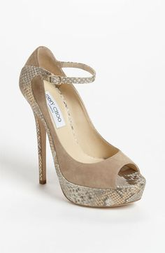 OH MY GOD!!!!!! Saw these at store-more beautiful than in picture!!  Jimmy Choo 'Tali' Pump available at #Nordstrom