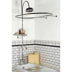 Randolph Morris Clawfoot Tub Shower Enclosure with Faucet and ...