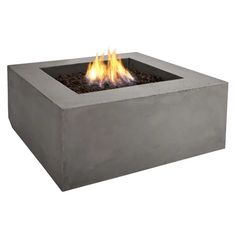 Relax or entertain around this rich brown concrete square outdoor fire table. wide x deep x 15 high. Square natural gas fire table from Real Frame fire tables. Style # at Lamps Plus. Fire Pit Ring, Diy Fire Pit, Fire Pit Backyard, Gas Outdoor Fire Pit, Gas Fire Table, Propane Fire Pit Table, Natural Gas Fire Pit, Square Fire Pit, Modern Fire Pit
