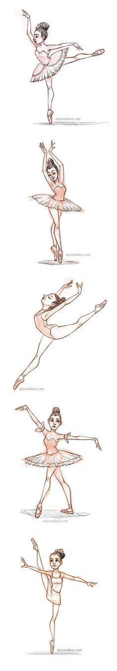 Many different ballet poses. Ballet Drawings, Dancing Drawings, Drawing Poses, Cute Drawings, Drawing Sketches, Drawings Of Ballerinas, Dancer Drawing, Sports Drawings, Sketching