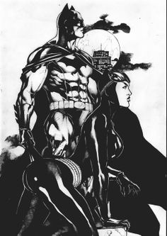 Batman and Catwoman by Gardenio Lima