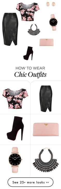 """Cb design .. Day out with the friends"" by fonguh-peace on Polyvore featuring River Island, Christian Louboutin, H&M, Kenneth Jay Lane and Prada"