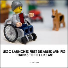 LEGO launches first disabled figure! Learn all about it at if it's hip, it's here.
