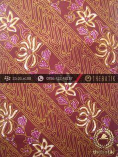 Batik Cap Tulis Jogja Motif Parang Seling Kembang Marun | Unique #Indonesia #Batik #Fabric Pattern Design http://thebatik.co.id/kain-batik-bahan/