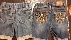 Bermuda-Shorts-SZ-4-Floral-Everyday-Cuffed-Denim-Gymboree-Lei-Blue-Lot-of-2