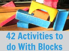 42 activities to do with blocks!