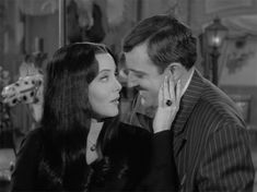 Gomez and Mortitia in the Adams Family Family Tv, Family Values, The Addams Family 1964, Morticia And Gomez Addams, Charles Addams, Carolyn Jones, Dark Love, Beetlejuice, Movies Showing
