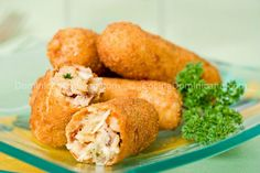 Croquetas de pollo (Chicken croquettes) To die for. Make a dipping sauce of mayo/ketchup/lemon and chopped fresh cilantro.