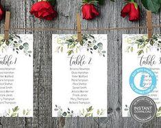 Seating Chart Template Editable Wedding Seating Chart | Etsy Table Template, Seating Chart Wedding Template, Circle Template, Wedding Templates, Menu Cards, Table Cards, Digital Invitations, Invitation Set, Wedding Programs