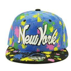 b8896ca8d4d AN - Splashing Graffiti New York Snapback Baseball Cap (Black) at Amazon  Men s Clothing store
