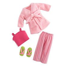 Journey Girls 18 inch Doll Clothes - Pink PJs and Robe
