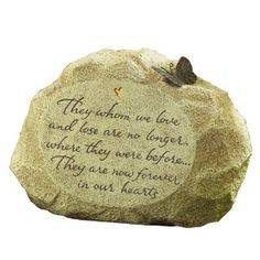 Want this for the flower garden here at home in memory of our sons.