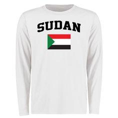Sudan Flag Long Sleeve T-Shirt - White