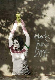 Interview: Street artist Black Hand tells the Guardian how Banksy has inspired a new set of graffiti on Tehran walls Street Art Banksy, Purple Carpet, Art Deco, Dishwasher Soap, Cheap Carpet Runners, Patterned Carpet, Street Artists, Graffiti Artists, How To Clean Carpet
