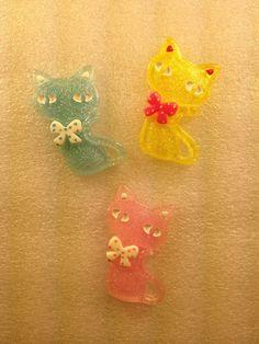 Kawaii Resin Cabochons DIY Deco Kitty