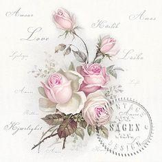 Servítky Love Rose 40x40