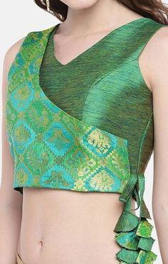 25 trendy and stylish latest blouse designs 14 Choli Designs, Choli Blouse Design, Designer Blouse Patterns, Fancy Blouse Designs, Blouse Neck Designs, Blouse Styles, Sari Bluse, Lehenga Blouse, Lehenga Choli