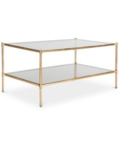 You'll love the way this elegantly designed Safavieh Aslan coffee table looks with the rest of your modern decor. Space Furniture, Outdoor Furniture, Gold Etagere, Ottoman Tray, Table Shelves, Diy Coffee Table, Coffee Mugs, Contemporary Classic, Transitional Style