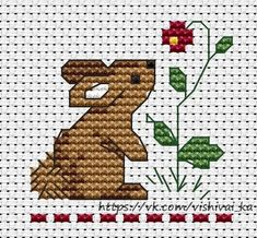 Rabbit for Madeleine Small Cross Stitch, Cross Stitch For Kids, Cross Stitch Needles, Cute Cross Stitch, Cross Stitch Cards, Cross Stitch Animals, Cross Stitch Kits, Cross Stitch Designs, Cross Stitching