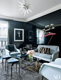 Design Inspiration: black lacquer — The Decorista
