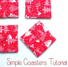 Need new coasters for Christmas? These simple coasters took me less than an hour to create.
