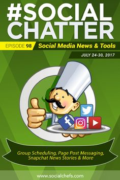 On this episode of Social Chatter, learn how to schedule Facebook Group posts, a Facebook smart speaker, Wordpress.com social media post scheduling and more.