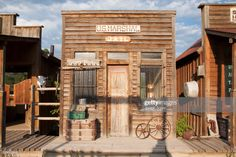 Photo about Western US Jail and Marshall s Office, Ridgway, Colorado. Image of american, photography, jail - 35471741 Western Saloon, Western Theme, Western Decor, Ridgway Colorado, Old Western Towns, Rodeo Party, Old West Town, Building Front, Western Parties