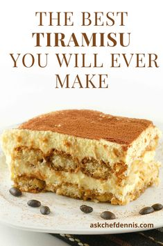 Your friends and family will love my tiramisu recipe. It's easy to make and I guarantee it will be the Best Tiramisu you've ever had! Can you believe that this classic dessert can be made in just about 30 minutes? Authentic Tiramisu Recipe, Classic Tiramisu Recipe, No Cook Tiramisu Recipe, Tiramisu Dessert, Classic Desserts, Easy Desserts, Delicious Desserts, Italian Desserts, Italian Cake