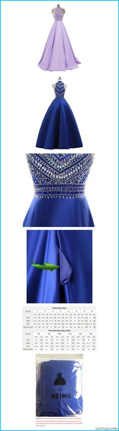 f504fc73fc HEIMO Women's Sequins Evening Party Gowns Beading Formal Prom Dresses Long  H187