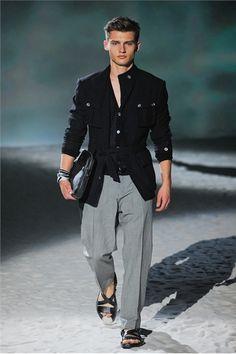 sandels with slacks/linen  Corneliani S/S 2012