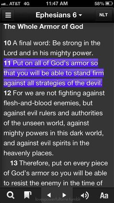 """Ephsians 6:10-13... this is my favor scripture """" The Whole Armor Of GOD"""""""