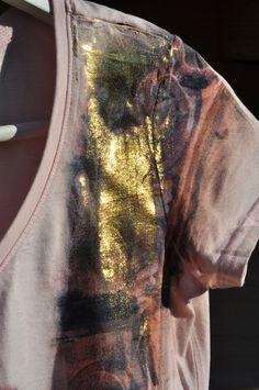 GOLD Watercolour Tshirt by ACQUARELLIfashion, €60.00