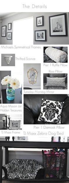 Pillow Thought: {Thursday's Tip} Living Room & Kitchen - Before & After