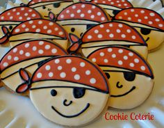 Pirate Decorated Cookies Birthday Party Cookie by CookieCoterie