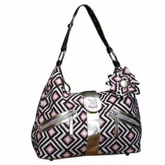 $98.00-$90.00 Baby Bella Tunno Super Star Slouch Diaper Bag- Brown/PinkDon?t ruin your pocketbook with stinky diapers and spilled juice. Bella Tunno?s diaper bags and Parent Pods are super stylish, functional and affordable. Our diaper bags feature our own fresh designs, including a coordinating flower adornment. Inside, you?ll find an easy-to-clean bag filled with lots of compartments and pocke ...