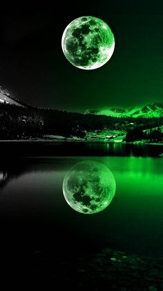 Green Moonlight wallpaper by _GIVENCHY_ - ce - Free on ZEDGE™