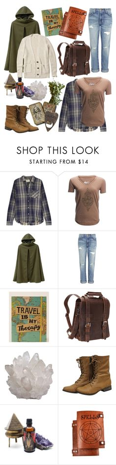 """""""Hedge Witch"""" by nerdywordy ❤ liked on Polyvore featuring Current/Elliott, United by Blue, Natural Life, Vagabond Traveler, Child Of Wild, Hollister Co., outfit, travel, occult and outfitsfortravel"""