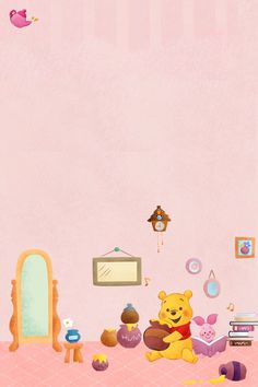 Winnie The Pooh Drawing, Winnie The Pooh Pictures, Winne The Pooh, Cute Disney Wallpaper, Kawaii Wallpaper, Lines Wallpaper, Iphone Wallpaper, Pooh Bear, Sanrio