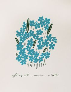 {Forget Me Not} Cool print!