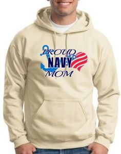 Proud Navy Mom Hoodie by WilliamsDigitalStore on Etsy